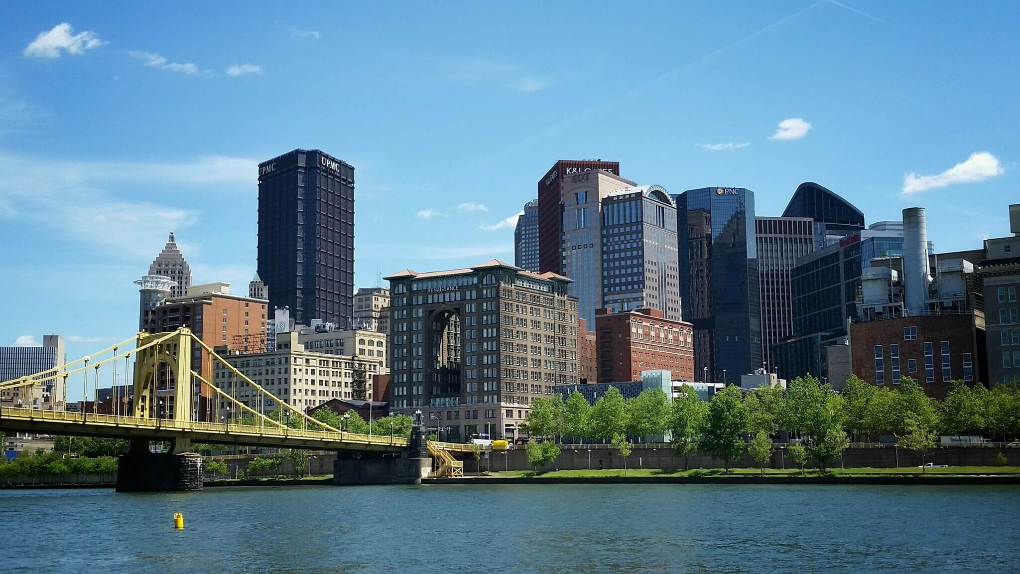A photo of downtown Pittsburgh, PA